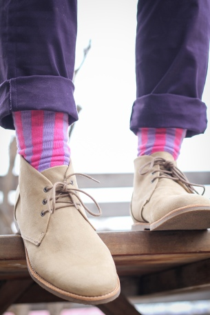 sock designer ad